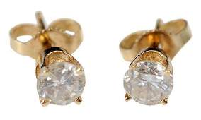 14kt Diamond Stud Earrings