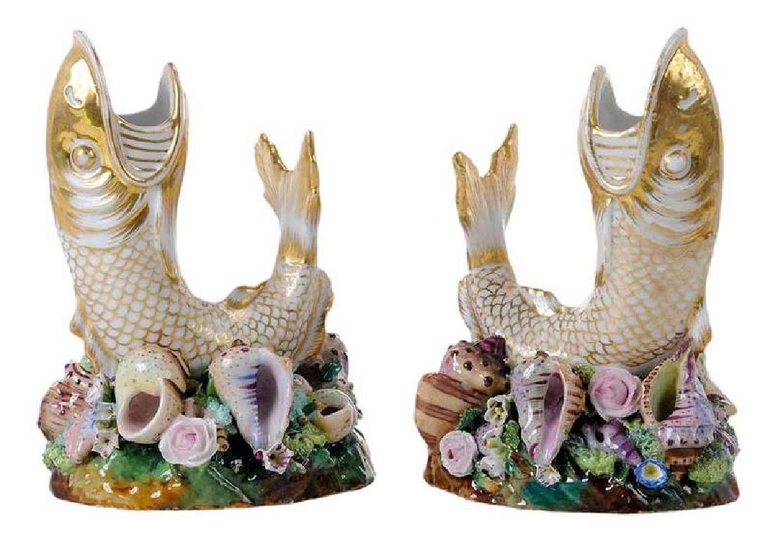 Pair of Fish Vases by Jacob Petit