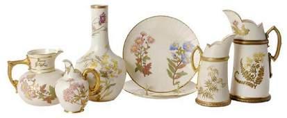 Seven Pieces Royal Worcester Porcelain