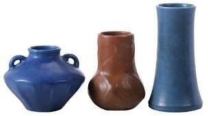 Three Pieces Art Pottery, Rookwood, Van Briggle