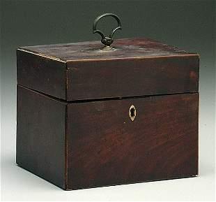 19th century English mahogany tea box,