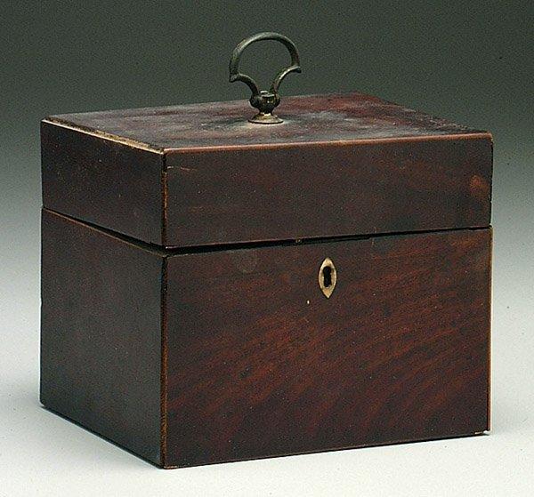 4: 19th century English mahogany tea box,