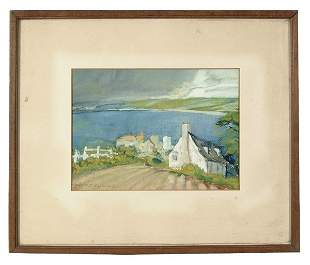 Watercolor landscape by J.R. Flemming