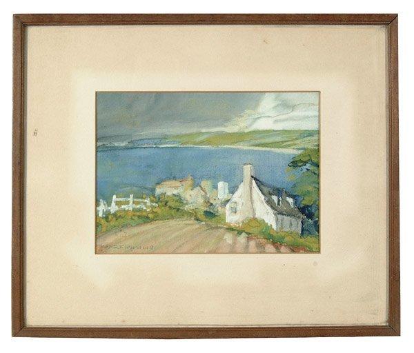 17: Watercolor landscape by J.R. Flemming