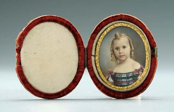 178: American School miniature portrait,