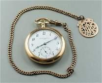 478: Swiss gold pocket watch,