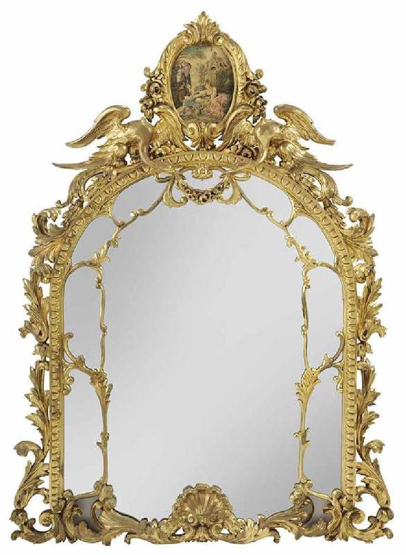 Louis XV Style Carved and Gilt Wood Pier Mirror