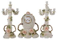 Schneeballen Garniture Clock Set