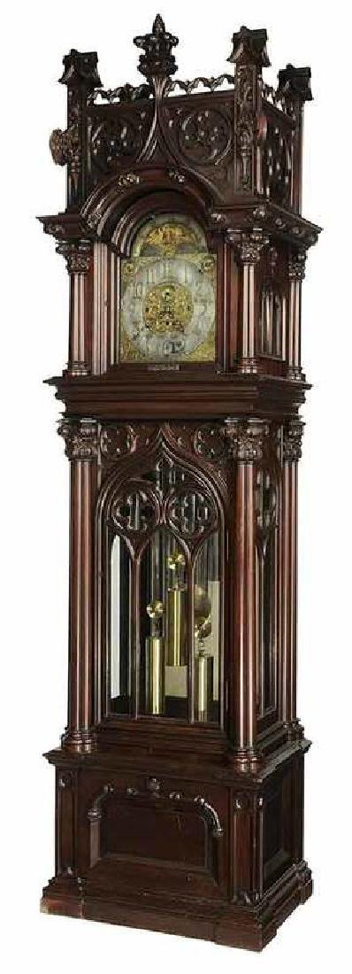 Gothic Revival Musical Tall Case Clock