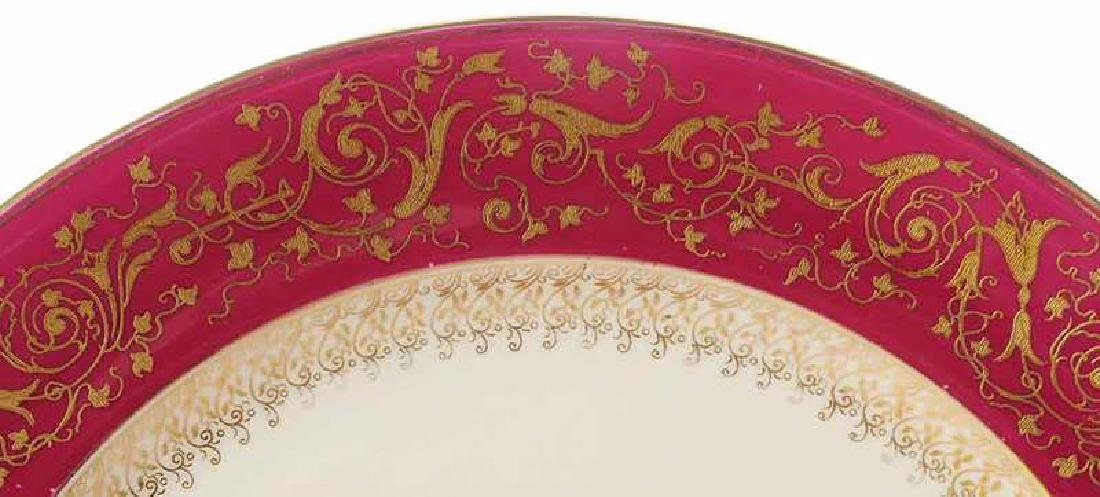 Set of Ten Tiffany & Co. Red Gilt Service Plates - 3