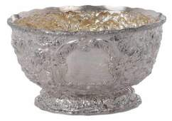 Sterling Repousse Punch Bowl