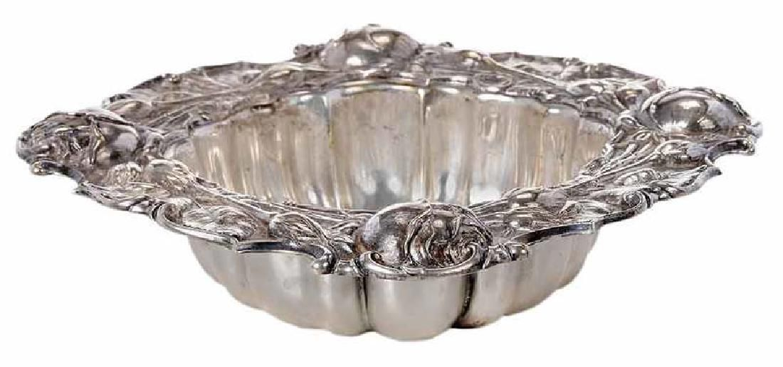 Sterling Bowl with Rose Border