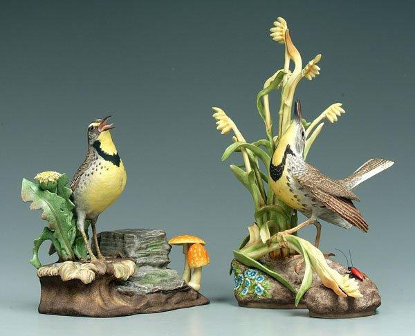 7: Two Boehm bird figurines: