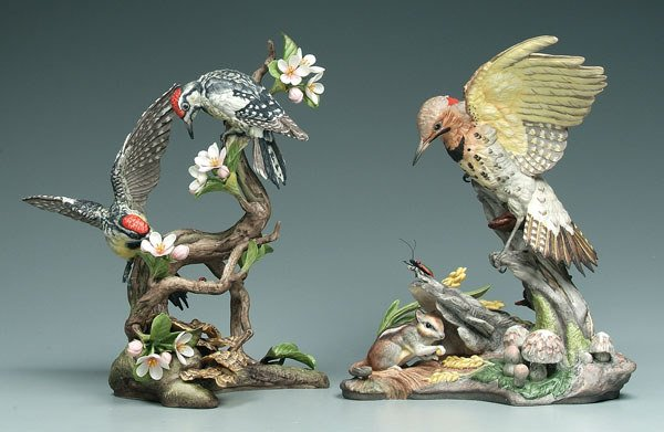 8: Two Boehm bird figurines: