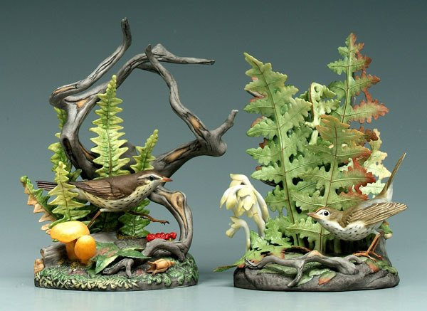 9: Two Boehm bird figurines: