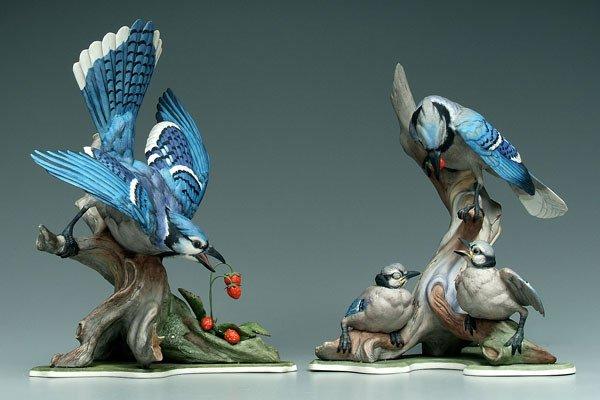 11: Two Boehm bird figurines: