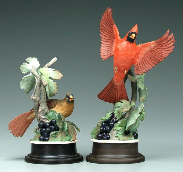 12: Two Boehm bird figurines