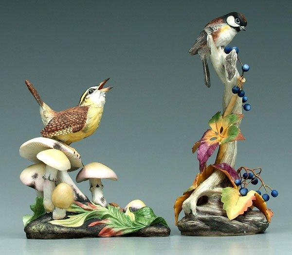 14: Two Boehm bird figurines: