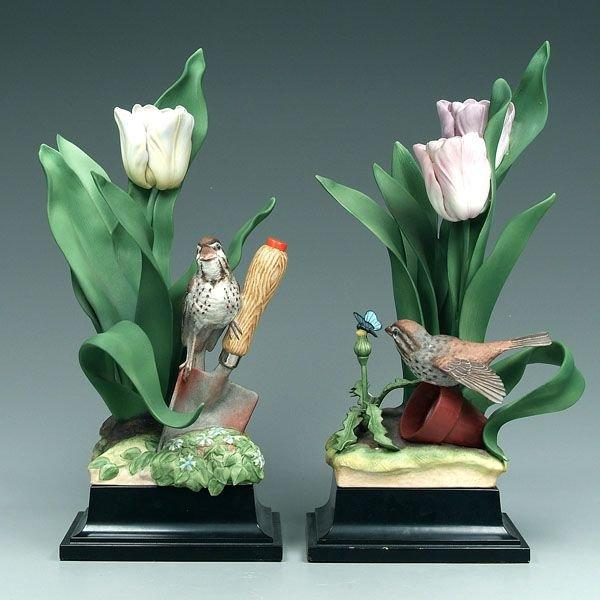 15: Two Boehm bird figurines: