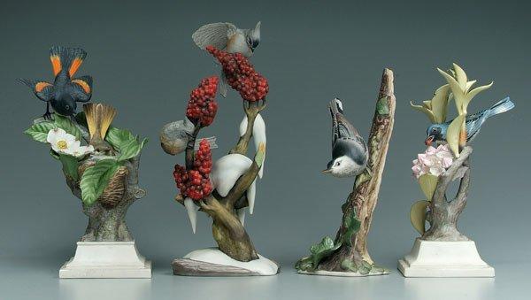 19: Four Boehm bird figurines: