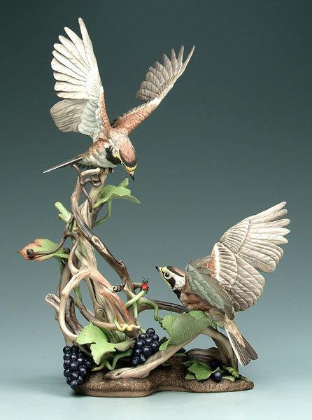 24: Boehm figural bird group,