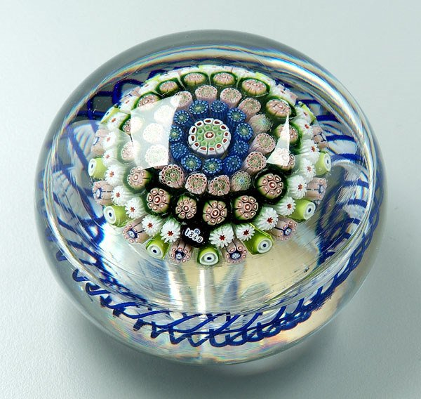 736: 1848 St. Louis paperweight,