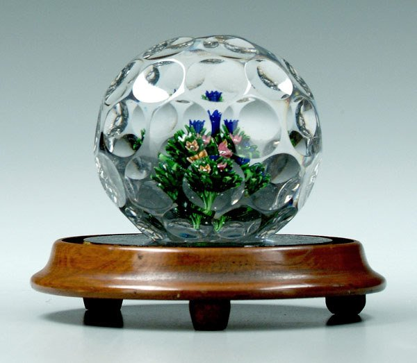739: St. Louis faceted magnum paperweight,