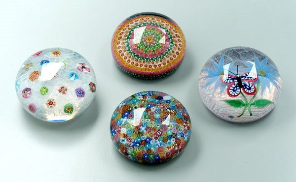 747: Four modern Baccarat paperweights,