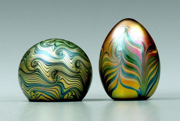 754: Two Orient & Flume paperweights: