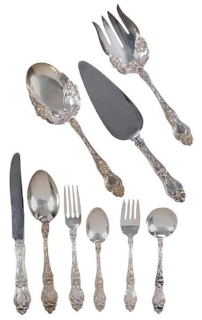 Lily Sterling Flatware, 123 Pieces