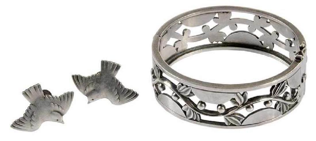 Georg Jensen Sterling Bracelet & Earclips