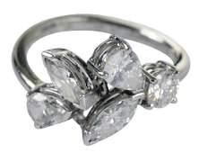 Platinum, 14kt. & Diamond Ring