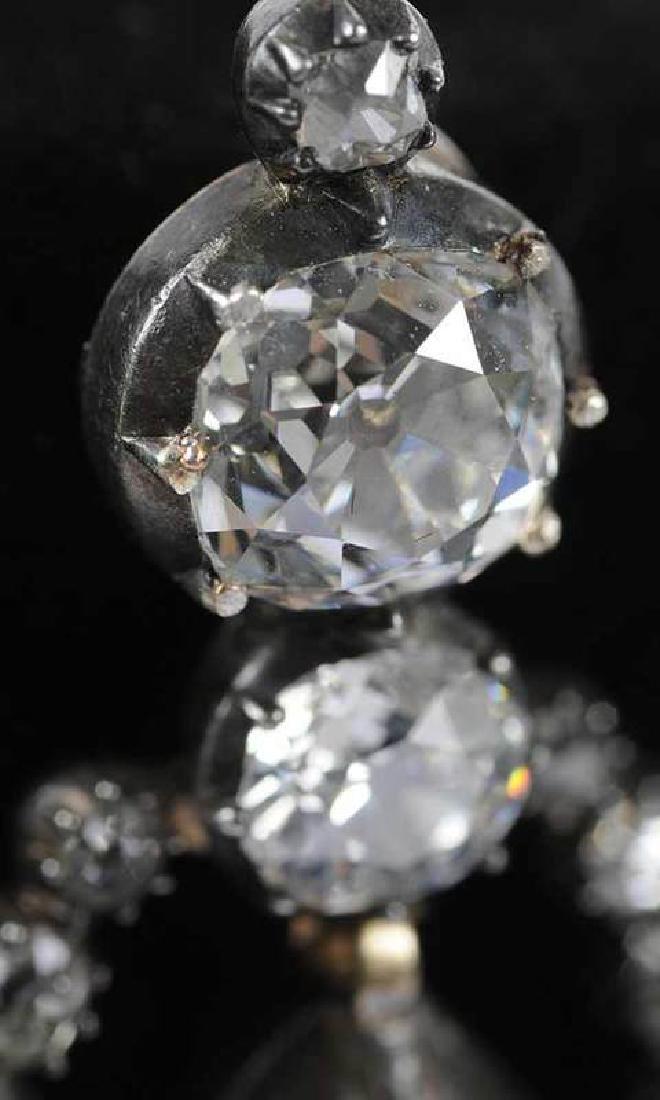 Rare 21 Carat Antique Diamond Earrings - 6