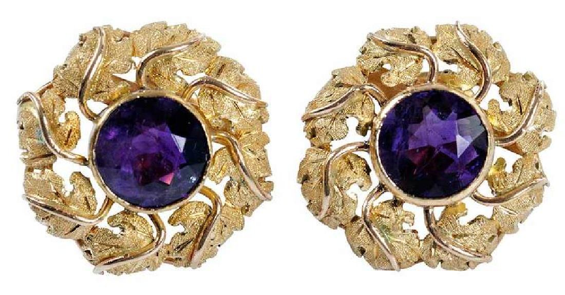 14kt. Amethyst Earrings