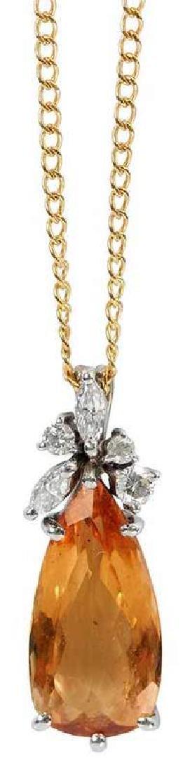H. Stern 18kt. Topaz & Diamond Necklace