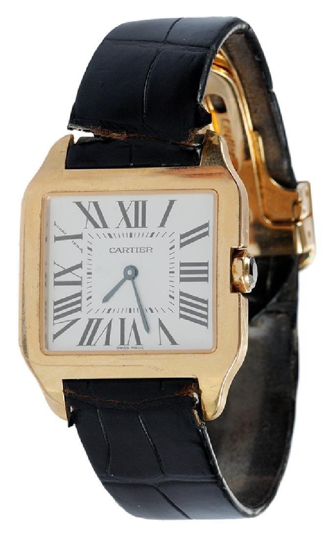 Cartier 18kt. Santos Dumont Watch