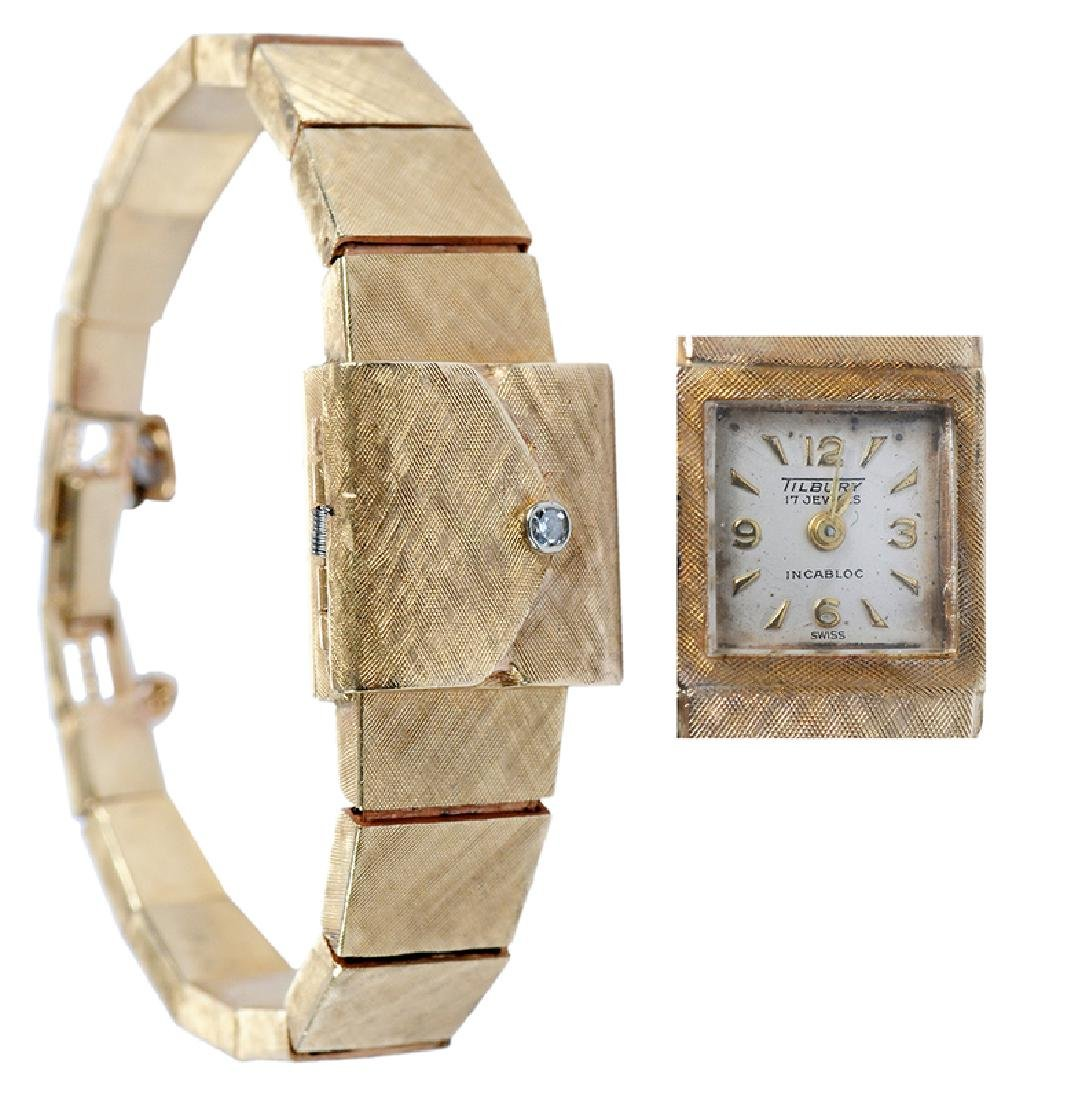 14kt. Lady's Covered Watch