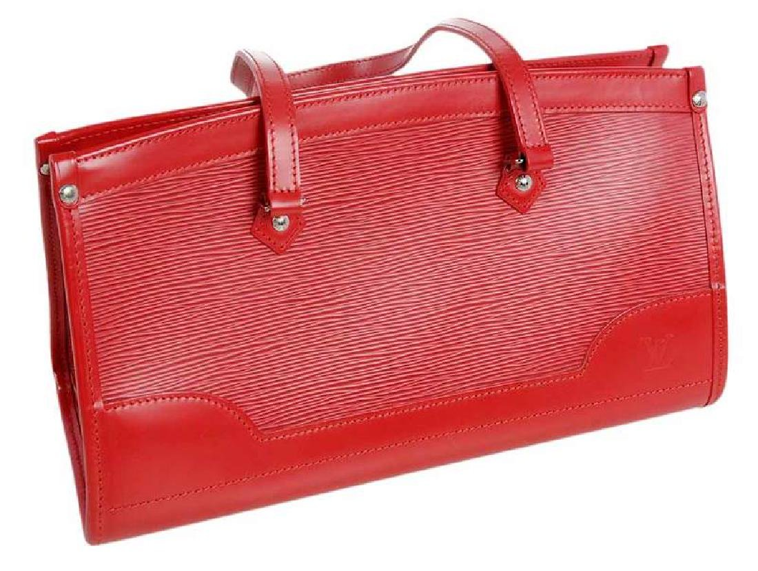 Louis Vuitton Red Leather Epi Handbag