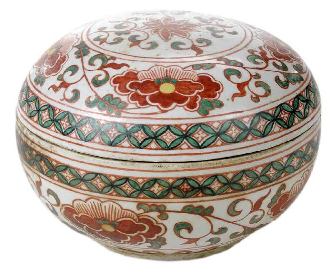 Ming Dynasty Round Porcelain Box