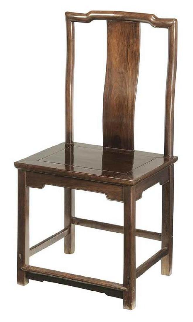 Fine Chinese Hardwood Side Chair