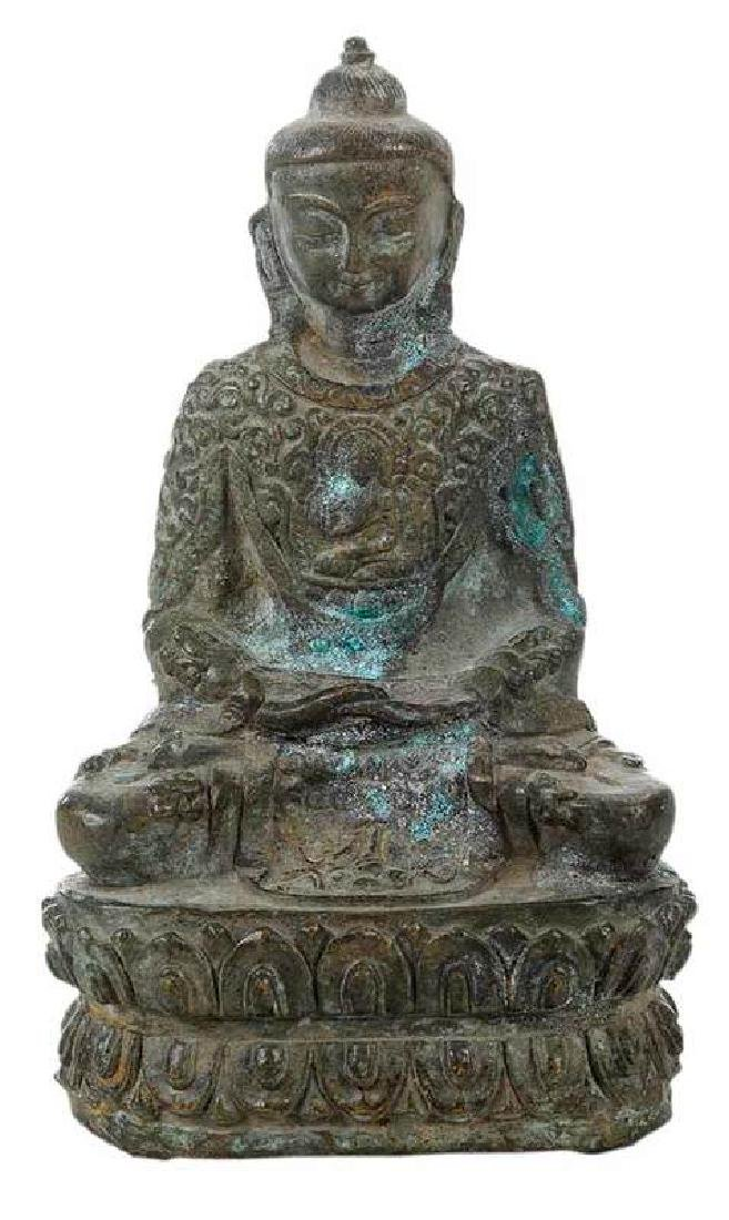 Chinese Seated Bronze Buddha
