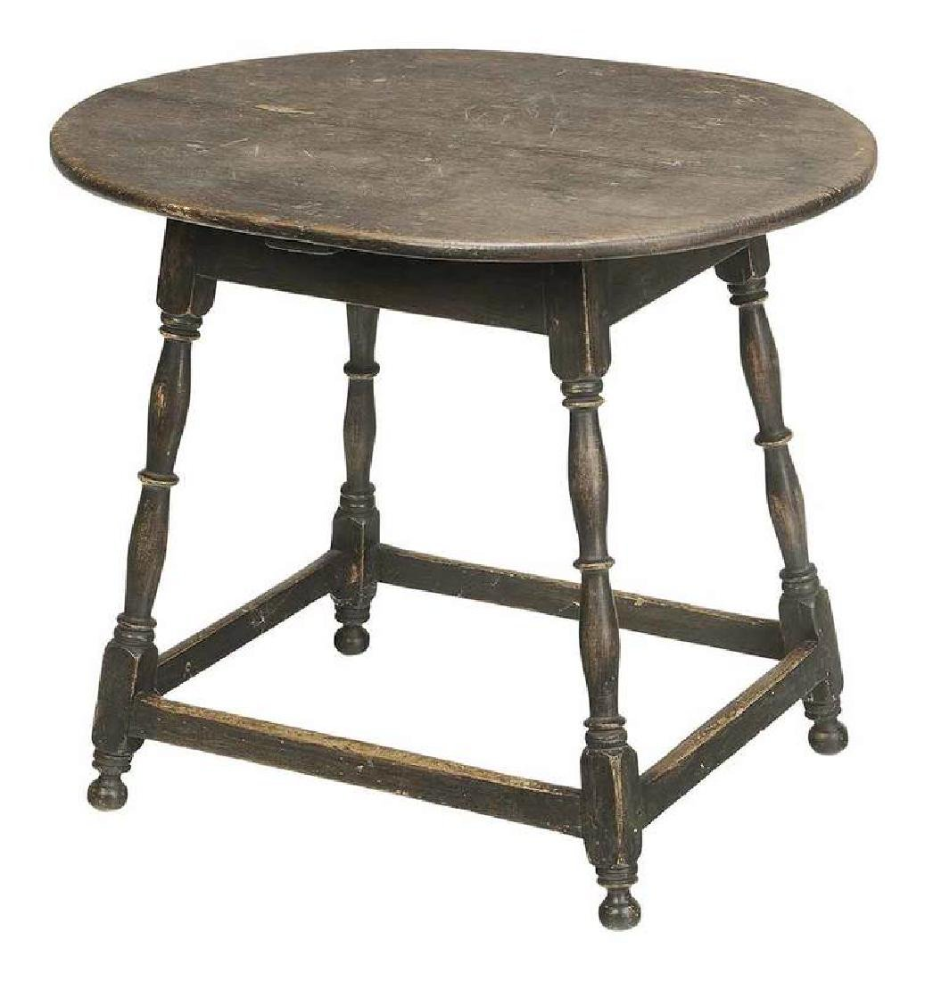 American William and Mary Painted Tavern Table