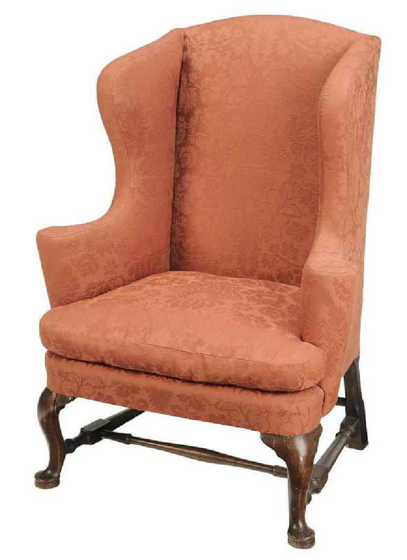 New England Queen Anne Walnut Easy Chair