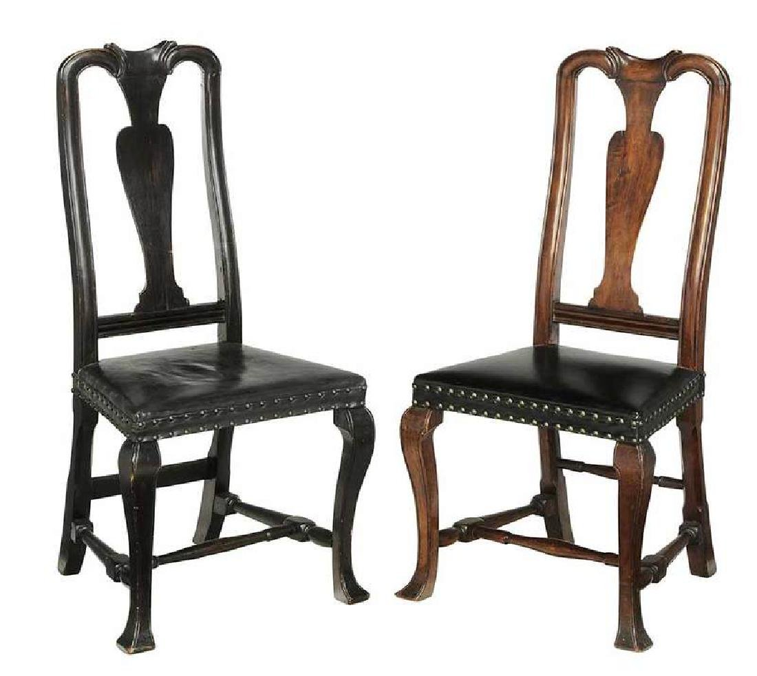 Assembled Pair American Queen Anne Side Chairs