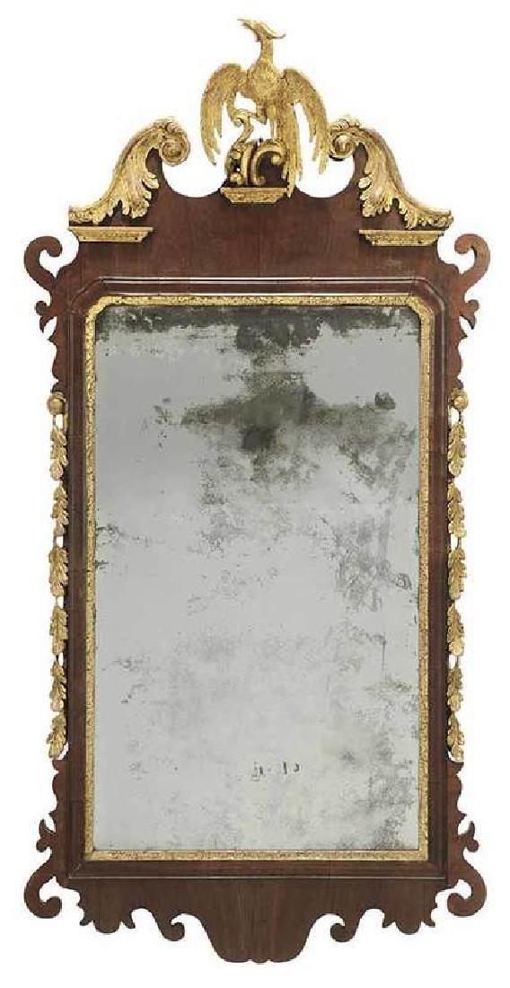 George II Parcel Gilt Mahogany Mirror