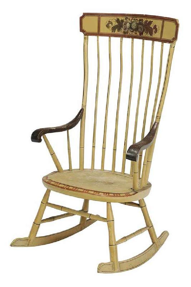 Faux Bamboo Windsor Rocking Chair