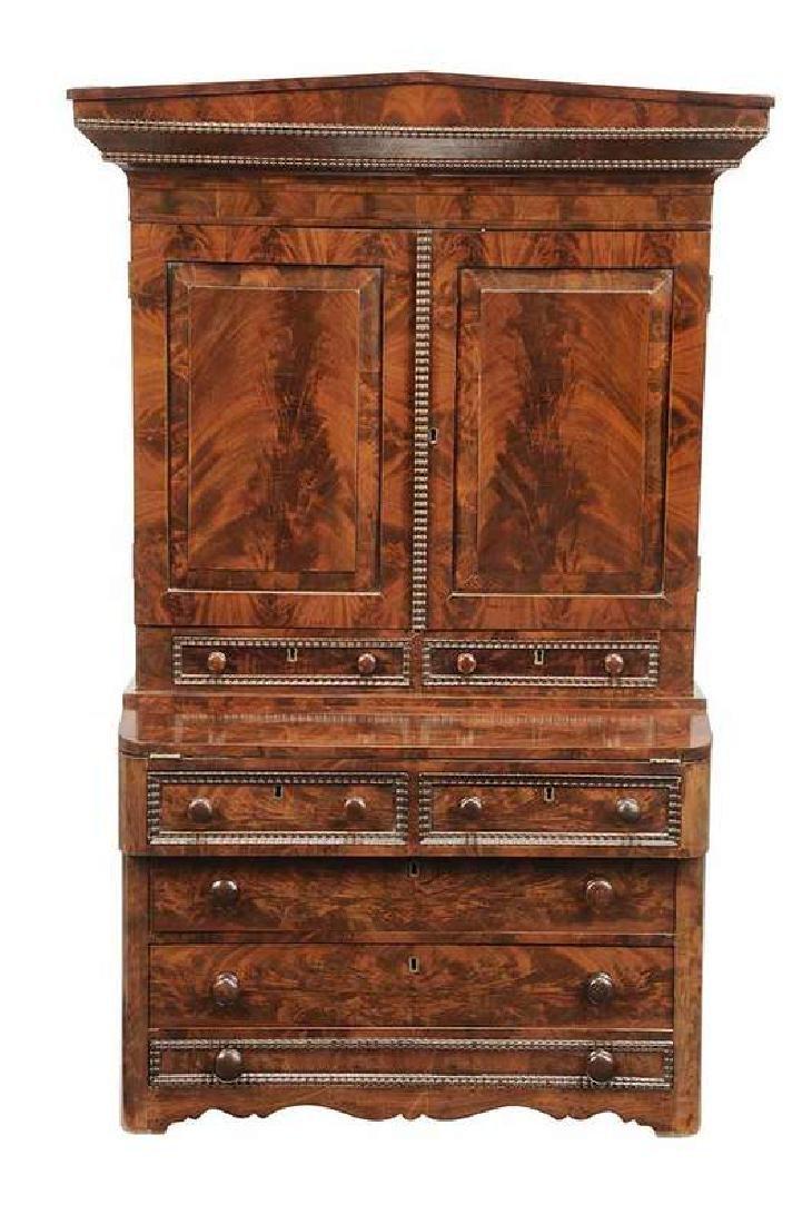 Rare Classical Child'sSecretary Bookcase