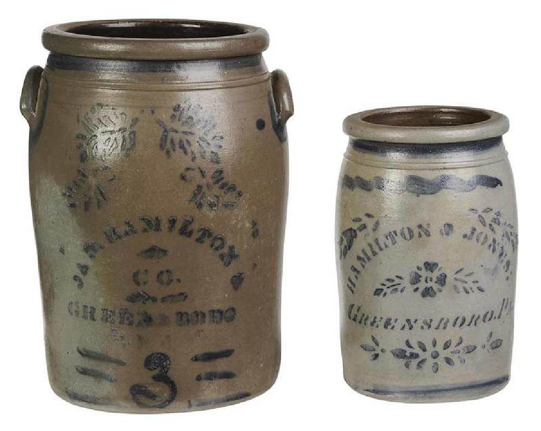 Hamilton Stoneware Storage Jars