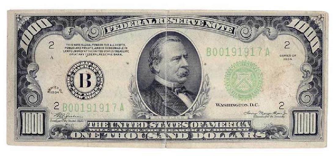 1934 US One Thousand Dollar bill