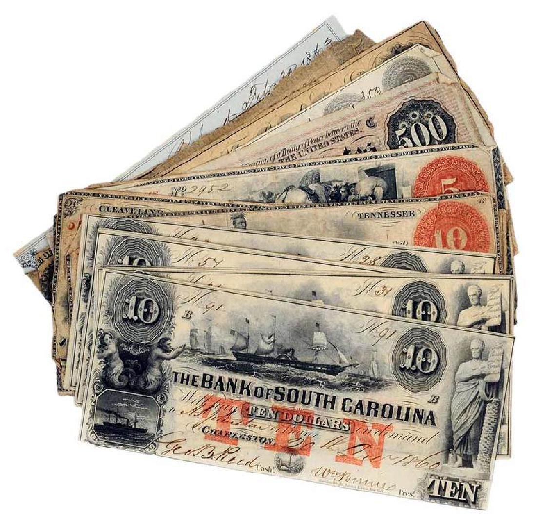 29 Confederate Bank Notes and One Bill of Sale